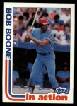 1982 Topps #616   -  Bob Boone In Action Front Thumbnail