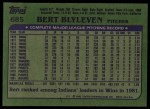 1982 Topps #685  Bert Blyleven  Back Thumbnail