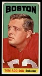 1965 Topps #1   Tommy Addison  Front Thumbnail