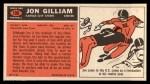 1965 Topps #100  Jon Gilliam  Back Thumbnail