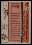 1981 Topps #115  Roy Smalley  Back Thumbnail