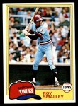 1981 Topps #115  Roy Smalley  Front Thumbnail