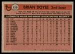 1981 Topps #159  Brian Doyle  Back Thumbnail
