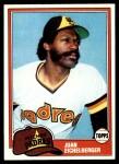 1981 Topps #478  Juan Eichelberger  Front Thumbnail