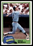 1981 Topps #504  Dale Murphy  Front Thumbnail