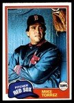 1981 Topps #525  Mike Torrez  Front Thumbnail