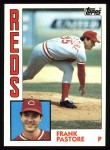 1984 Topps #87  Frank Pastore  Front Thumbnail