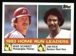 1984 Topps #132  Jim Rice / Mike Schmidt  Front Thumbnail