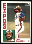 1984 Topps #595  Jeff Reardon  Front Thumbnail
