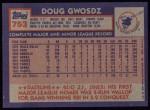 1984 Topps #753  Doug Gwosdz  Back Thumbnail
