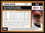 2002 Topps #92  Aaron Boone  Back Thumbnail