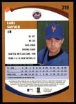 2002 Topps #319  Earl Snyder   Back Thumbnail
