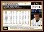 2002 Topps #571  John Vander Wal  Back Thumbnail