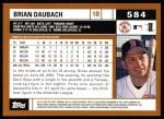 2002 Topps #584  Brian Daubach  Back Thumbnail