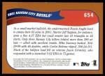 2002 Topps #654   Kansas City Royals Back Thumbnail