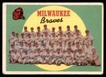 1959 Topps #419   Braves Team Checklist Front Thumbnail