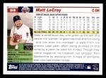 2005 Topps #59  Matt LeCroy  Back Thumbnail