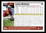 2005 Topps #220  Lance Berkman  Back Thumbnail