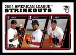 2005 Topps #342   -  Johan Santana / Pedro Martinez / Curt Schilling Leaders Front Thumbnail