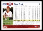 2005 Topps #482  Todd Pratt  Back Thumbnail