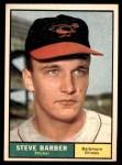 1961 Topps #125  Steve Barber  Front Thumbnail