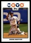 2008 Topps #60  Jose Reyes  Front Thumbnail