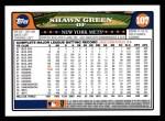 2008 Topps #107  Shawn Green  Back Thumbnail