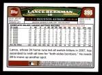 2008 Topps #395  Lance Berkman  Back Thumbnail