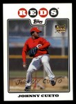 2008 Topps #476  Johnny Cueto  Front Thumbnail
