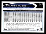 2012 Topps #147  Orlando Hudson  Back Thumbnail