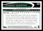 2012 Topps #202  Andrew Carignan  Back Thumbnail