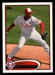 2012 Topps #634  Jose Contreras  Front Thumbnail