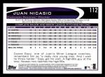 2012 Topps #112  Juan Nicasio  Back Thumbnail