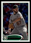 2012 Topps #202  Andrew Carignan  Front Thumbnail