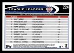 2012 Topps #224   -  Matt Kemp / Prince Fielder / Ryan Howard NL RBI Leaders Back Thumbnail