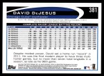 2012 Topps #381  David DeJesus  Back Thumbnail