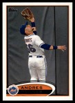 2012 Topps #489  Andres Torres  Front Thumbnail