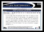 2012 Topps #616  Tyler Pastornicky  Back Thumbnail