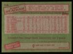 1985 Topps #16  Bobby Meacham  Back Thumbnail