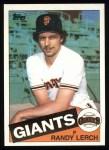 1985 Topps #103  Randy Lerch  Front Thumbnail