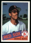 1985 Topps #116  Dennis Boyd  Front Thumbnail