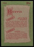 1985 Topps #132  Dale Berra / Yogi Berra  Back Thumbnail