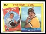 1985 Topps #132  Dale Berra / Yogi Berra  Front Thumbnail