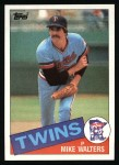 1985 Topps #187  Mike Walters  Front Thumbnail