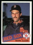 1985 Topps #207  Mark Clear  Front Thumbnail