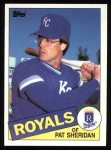 1985 Topps #359  Pat Sheridan  Front Thumbnail