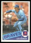 1985 Topps #557  Len Barker  Front Thumbnail