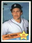 1985 Topps #708  Lance Parrish  Front Thumbnail