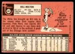 1969 Topps #481  Bill Melton  Back Thumbnail