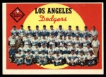 1959 Topps #457   Dodgers Team Checklist Front Thumbnail